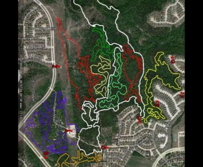 Big Cedar Wildernes trail map