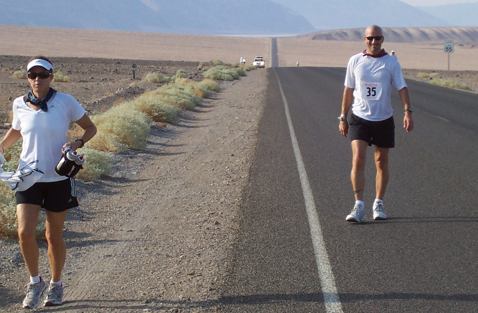 Carilyn Johnson Pacing at the Badwater Ultra