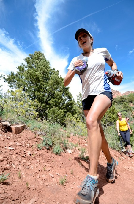 Picture of Krissy Moehl running FTK Zion Traverse