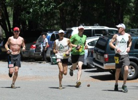 Picture of Yassine Diboun and pacers at Western States 100