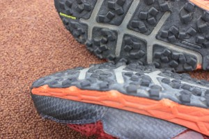 Worn lugs on Montrail Bajada Trail Shoes