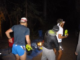 Jeremy and Matt Tock at Mile 96 with Katie Lombard, Matt's girlfriend.