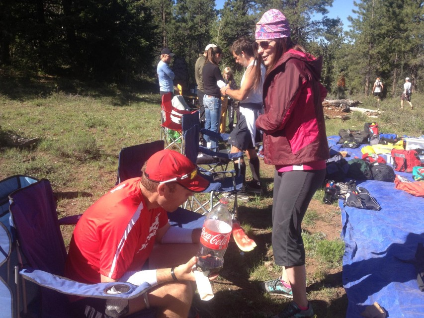 Coke is a staple for many in an ultra - as is a good crew!
