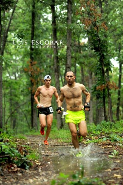 Mike Rush and Trae Etheredge lead the way during the War Eagle 25K
