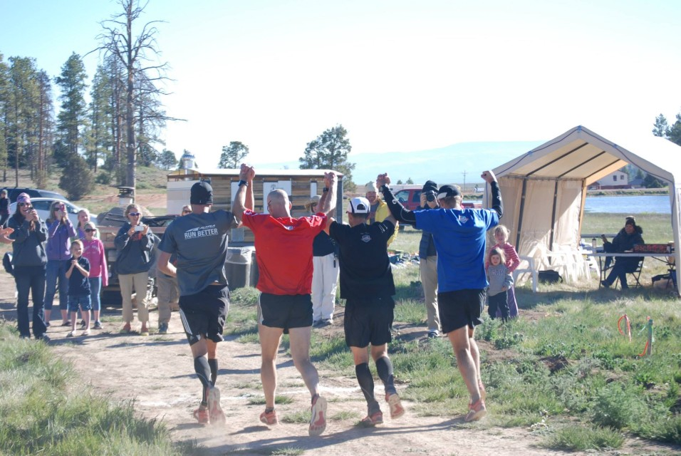 Finishing together - 2013 Bryce 100