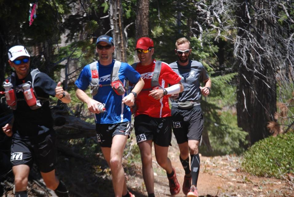 Scott, Craig, Matt and Josh running the 2013 Bryce 100 - Photo by Brenda Greenwell