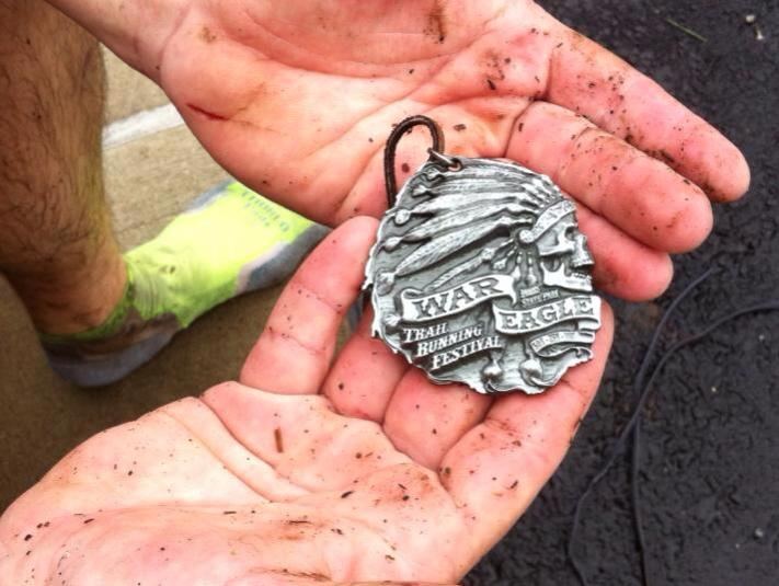 a well deserved 50K finisher medal