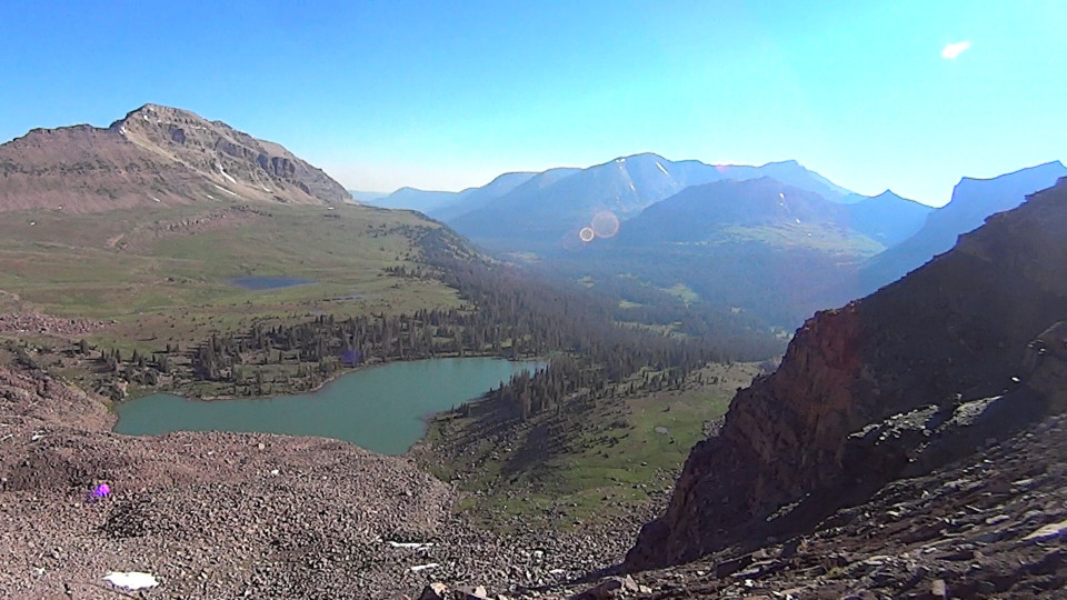 Dead Horse Lake from the pass