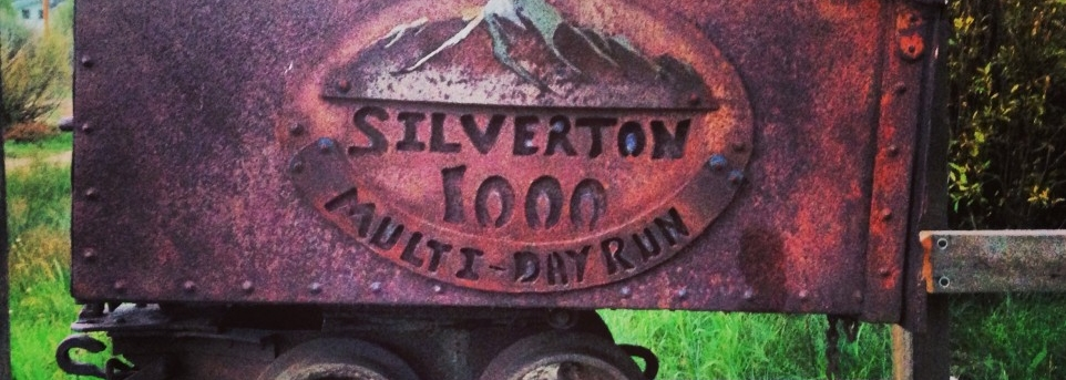 picture of ore cart with title silverton 1000 multi day race
