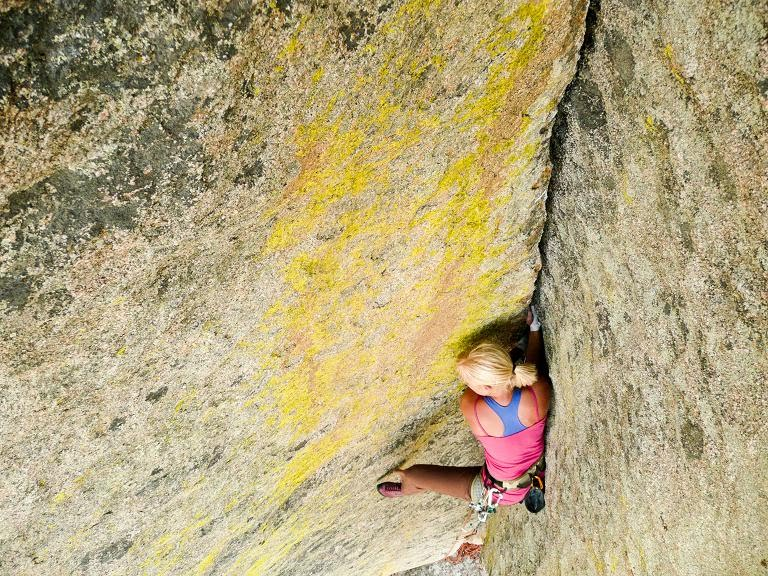 Heartbreaker 5.10d in City of Rocks, Idaho