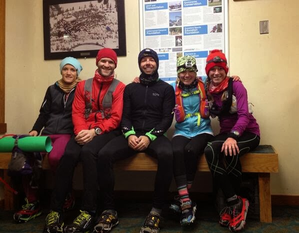 Dress for the weather - mid run break in a warming hut. Snowbird, UT.