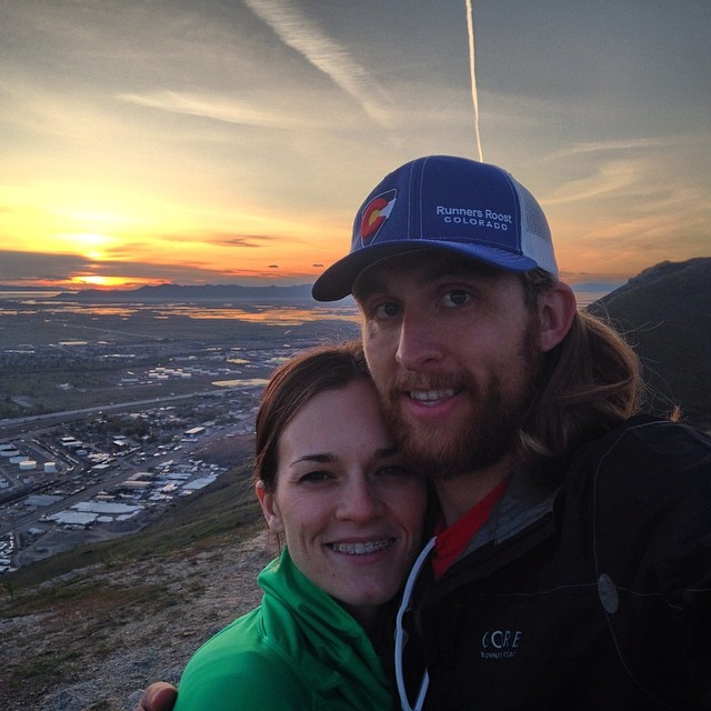 X-Running Windproof Jacket and my hot wife on Ensign Peak