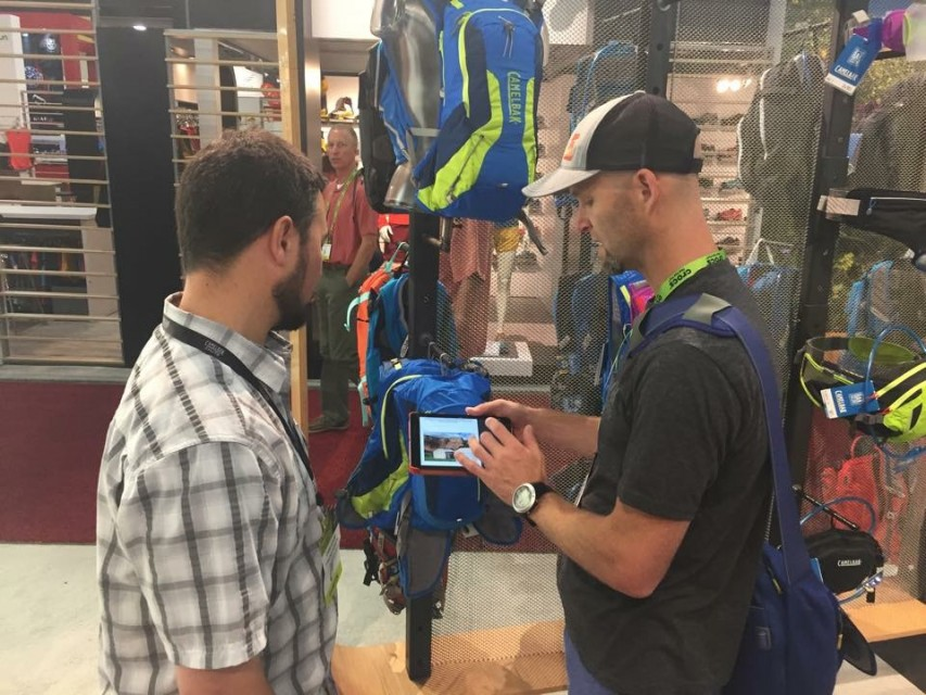 Craig meeting with Camelbak and showing the new site