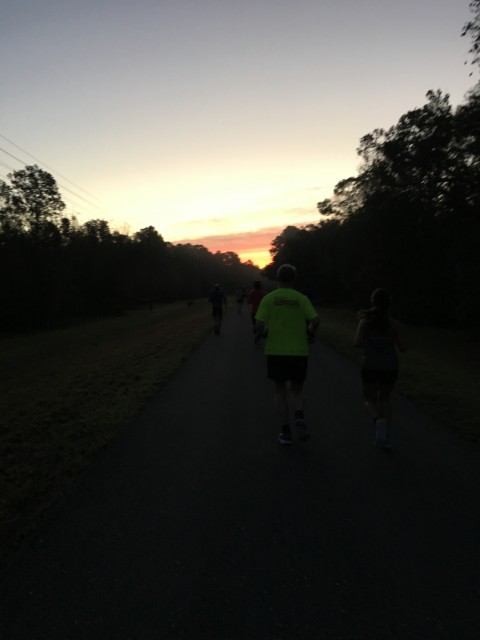 Sunrise at the start