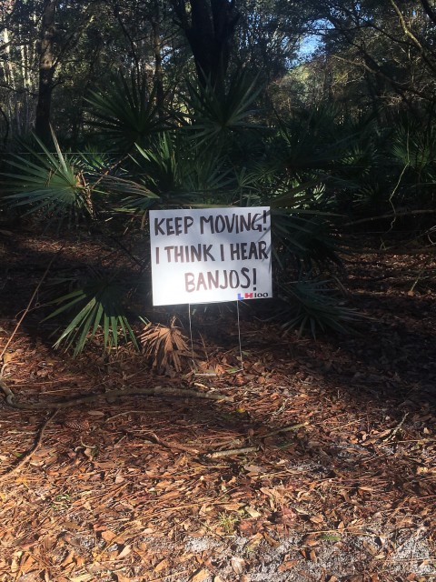 The Banjo Sign (from earlier in the day)