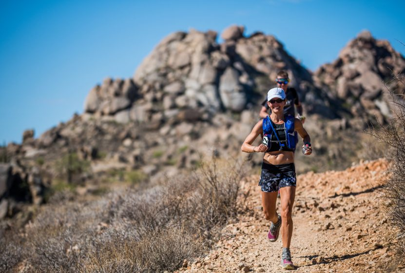 Dana Anderson running the Javelina Jundred